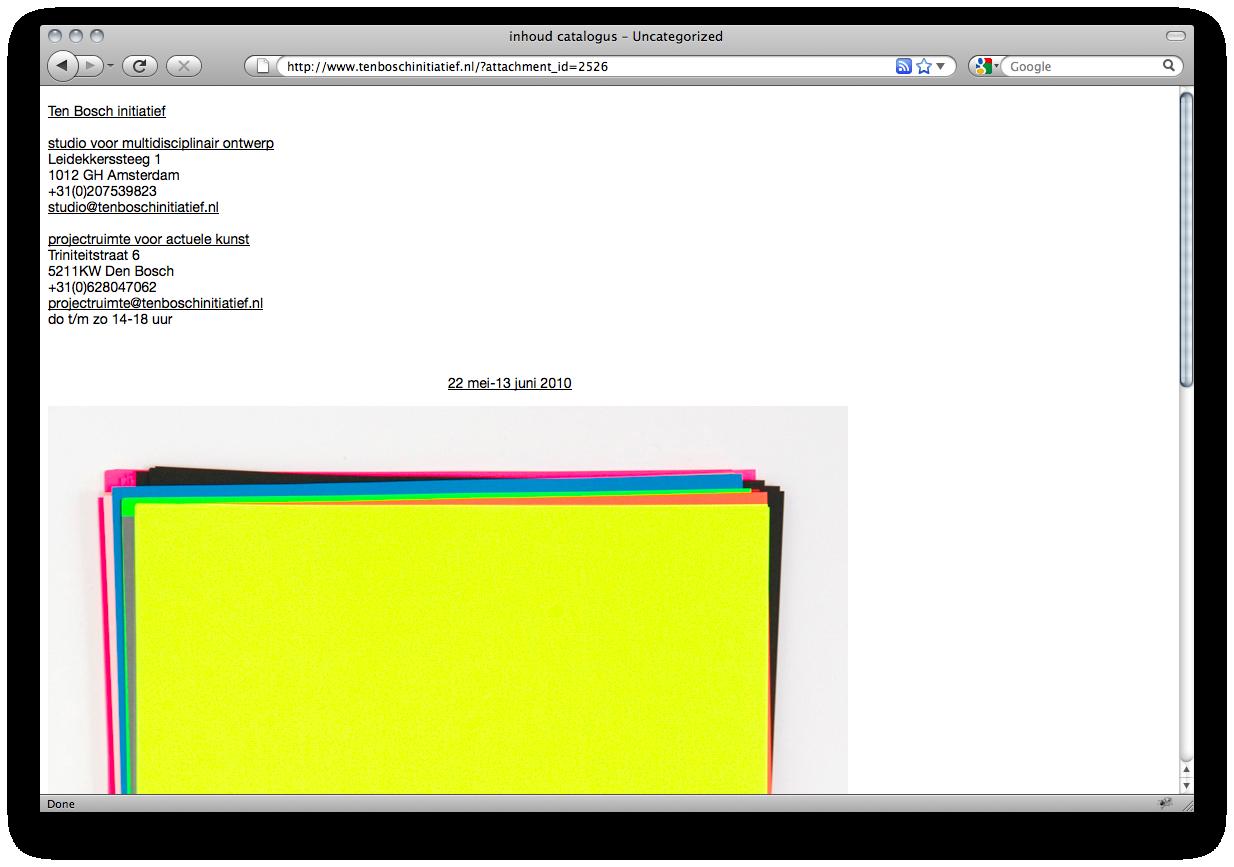 Website and online identity in collaboration with Joris Ten Bosch