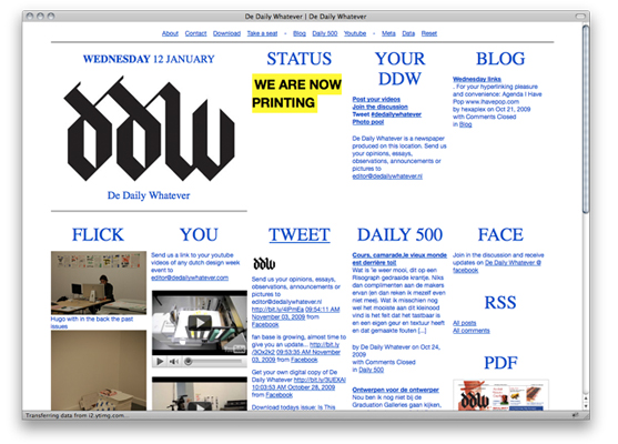 De Daily Whatever - Online publication for Dutch Design Week