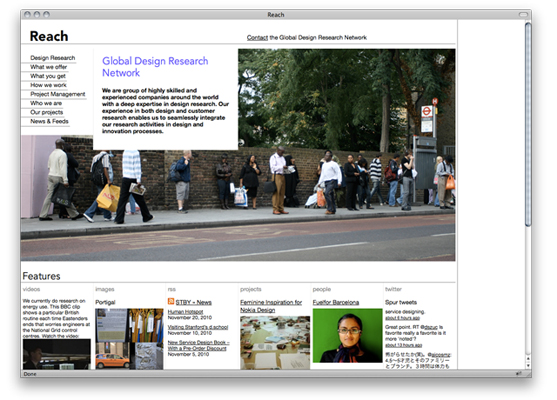 Website for the Global Design Research Network