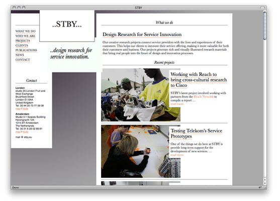 Stby are a network company based in London and Amsterdam