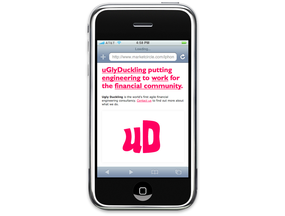 Ugly Duckling - Dynamic Logo and smart phone micro-site